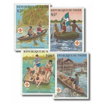 75 Jahre Pfadfinderbewegung - 4 Briefmarken ungezähnt postfrisch, Katalog-Nr. 796-799, Niger