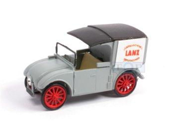 Modellauto:Hanomag Kommissbrot Lieferwagen- Lanz Reparaturen -, hellgrau(Saller, 1:87)