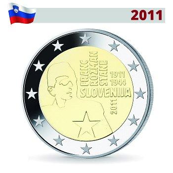 Franc Rozman, 2 Euro Münze 2011, Slowenien