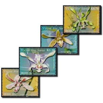Orchideen 2013 - 4 Briefmarken postfrisch, Papua Neuguinea