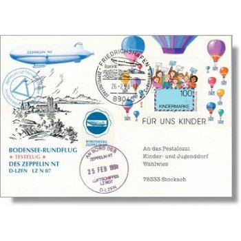 Zeppelin NT, Bodensee-Rundflug test flight - document, Germany