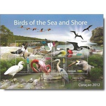 See- und Ufervögel - Briefmarken-Block postfrisch, Katalog-Nr. 84-91, Curacao