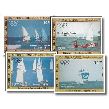 Olympische Sommerspiele 1984, Los Angeles - 4 Briefmarken ungezähnt postfrisch, Katalog-Nr. 836-839,