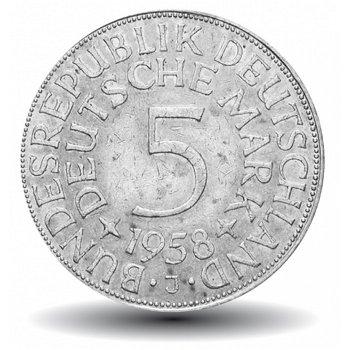5 DM Münze 1958, Der seltene Heiermann, Deutschland