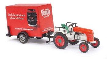 Modell-Traktor:Kramer KL11 mit Anhänger - Früh Kölsch -(Busch, 1:87)
