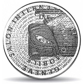 100 Jahre Automobilsalon, 20 Franken Münze Schweiz 2005, Polierte Platte