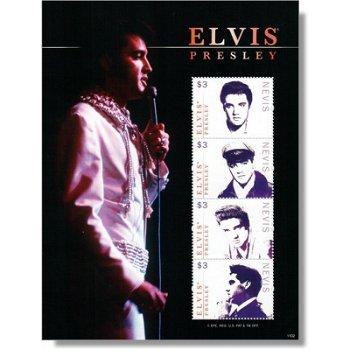 Elvis Presley - Briefmarken-Block postfrisch, Nevis