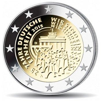 2 Euro Münze 2015, 25 Jahre Deutsche Einheit, Deutschland, 1 Prägezeichen