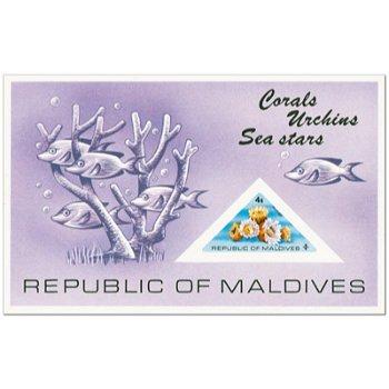 Korallen - Briefmarken-Block postfrisch, Malediven