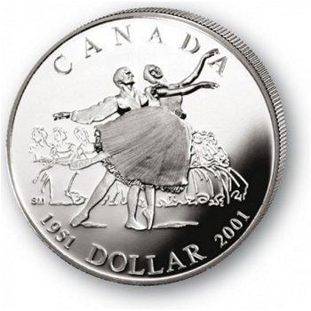 50 Jahre Nationalballett - Silberdollar 2001, 1 Dollar Silbermünze, Canada