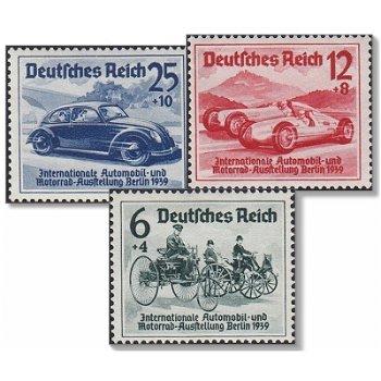 Internationale Automobil-Ausstellung Berlin - 3 Briefmarken, Katalog-Nr. 686-88, postfrisch, Deutsch