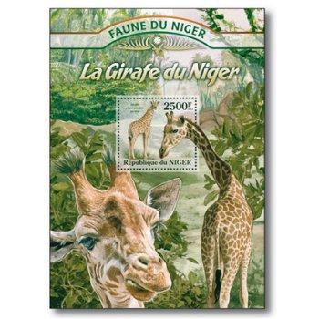 Giraffen - Briefmarken-Block postfrisch, Niger