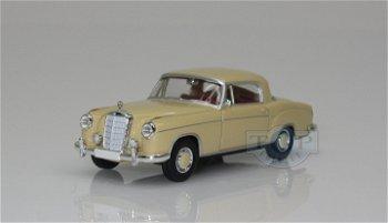 Modellauto:Mercedes-Benz 220 S Coupé, beige(Brekina, 1:87)