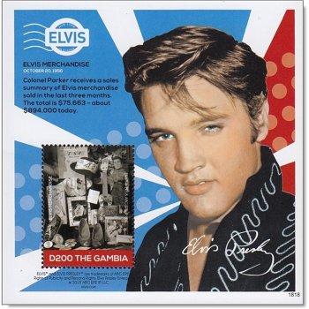Elvis Presley: Merchandise - Block postfrisch, Gambia