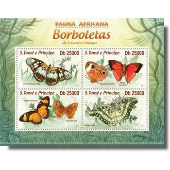 Schmetterlinge - Briefmarken-Block postfrisch, St. Thomas