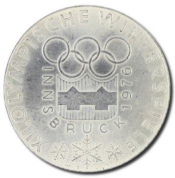 """100-Schilling-Münze """"XII. Olympische Winterspiele 1976 in Innsbruck"""", Österreich"""