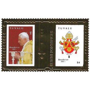 5 Jahre Pontifikat Papst Benedikt XVI. - Briefmarken-Block postfrisch, Tuvalu