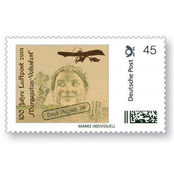 100 years airmail for the Margareten-Volksfest - Individual postage stamp, mint never hinged