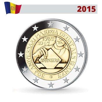 Volljährigkeit, 2 Euro Münze 2015, Andorra