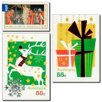 Weihnachten 2012 - 3 Briefmarken postfrisch, selbstklebend, Australien