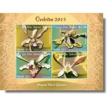 Orchideen 2013 - Briefmarken-Block postfrisch, Papua Neuguinea