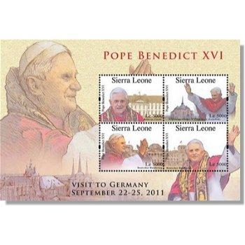 Papst Benedikt XVI. Besuch in Deutschland - Briefmarken-Block postfrisch, Sierra Leone
