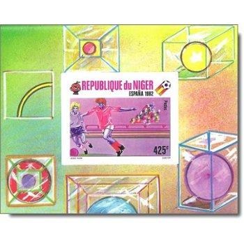 Fußball-Weltmeisterschaft 1982, Spanien - Briefmarken-Block ungezähnt postfrisch, Katalog-Nr. 724 Bl