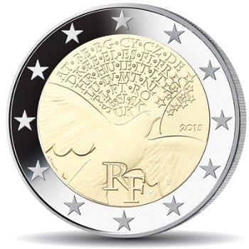 70 Jahre Frieden in Europa, 2 Euro Münze 2015, Frankreich