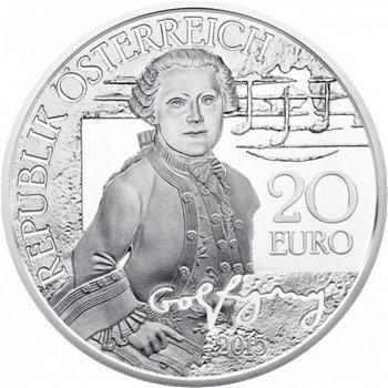 Mozart: Das Wunderkind, 20 Euro Silbermünze, Österreich