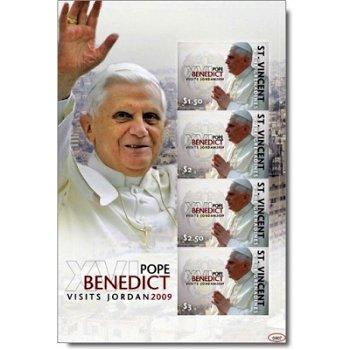 Papst Benedikt XVI. besucht Jordanien - Briefmarken-Block postfrisch, St. Vincent und Grenadinen