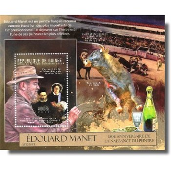 Édouard Manet - Briefmarken-Block postfrisch, Guinea