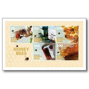 Honigbienen - Block postfrisch, Neuseeland