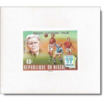 """Fußballweltmeisterschaft 1978 """"Aufdruck"""" - 5 Luxusblocks postfrisch, Katalog-Nr. 639-643,"""