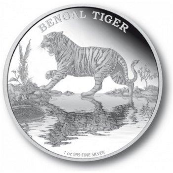 Bengaltiger, 2 Dollar Silbermünze, Niue