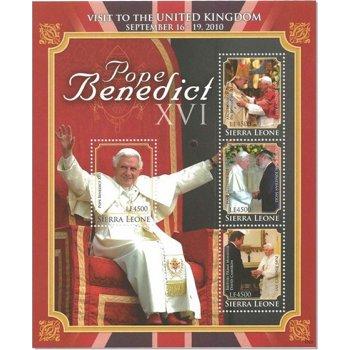Papst Benedikt XVI. besucht Großbritannien - Kleinbogen postfrisch, Sierra Leone