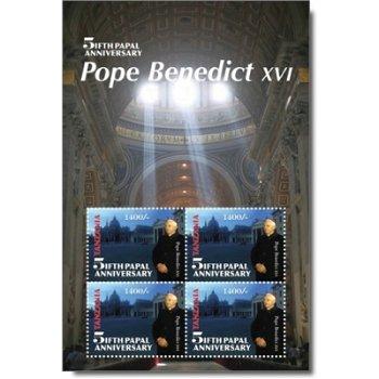 5. Jahrestag des Pontifikats von Papst Benedikt XVI. - Briefmarken-Block postfrisch, Tansania