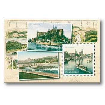 175 Jahre Sächsische Dampfschiffahrt, Block 78 postfrisch, Katalog-Nr. 2871, Bundesrepublik