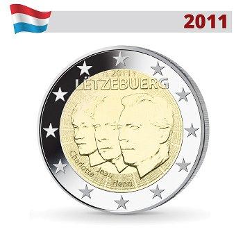2 Euro Münze 2011, Großherzog Jean, Luxemburg
