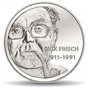 100. Geburtstag von Max Frisch, 20 Franken Münze 2011 Schweiz, Stempelglanz