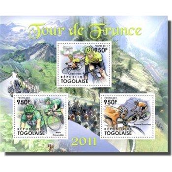 Radfahren/Tour de France - Briefmarken-Block postfrisch, Katalog-Nr. 4305-07, Togo
