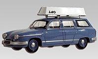 Modellauto:Panhard PL17 Kombi, blau(Eligor, 1:43)