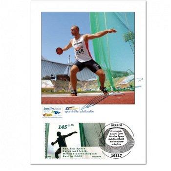 Leichtathletik: Robert Harting - Maximumkarte mit Unterschrift, Deutschland