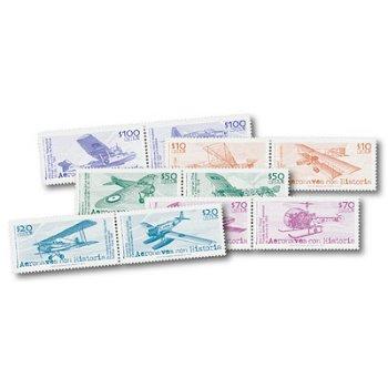 Flugzeug-Legenden 10 Briefmarken postfrisch, Chile