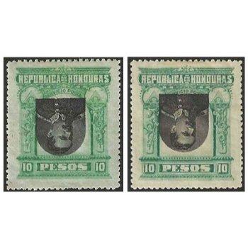 """Louis Bogran """"kopfstehendes Mittelstück"""" - 2 Briefmarken ungestempelt, Katalog-Nr. 46 K, H"""