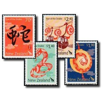 Jahr der Schlange - 4 Briefmarken postfrisch, Neuseeland