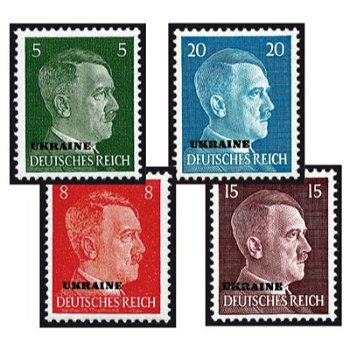 Postage stamps - 20 stamps mint never hinged, catalog no. 1-20, German occupation of Ukraine