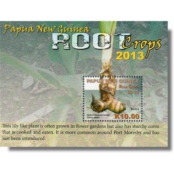 Wurzelgemüse - Briefmarken-Block postfrisch, Papua Neuguinea