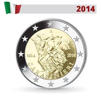 200. Jahrestag der Carabinieris, 2 Euro Münze 2014, Italien