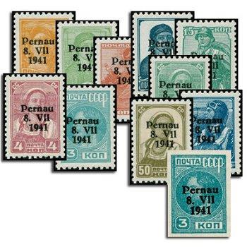 Pernau, Katalog-Nr. 1-10, inklusive 3a und 3b, postfrisch