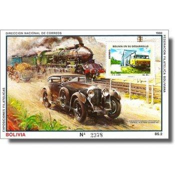 Rennen zwischen Bentley und Blue Train - Briefmarken-Block postfrisch, Katalog-Nr. 857 C / Bl. 172,